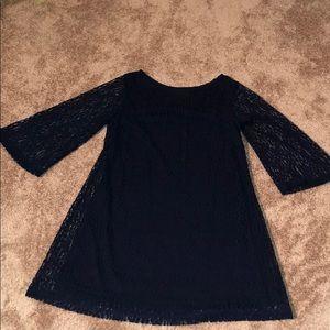 Dresses & Skirts - Navy lace dress